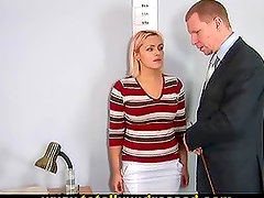Big Boobed Blonde Tries A Dildo In Her Follow Up Interview