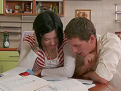 Jade the sexy college girl gets fucked be her classmate