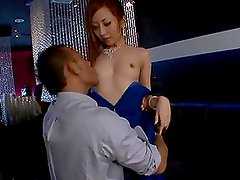 Erena Aihara jumps on a hard cock in the night club