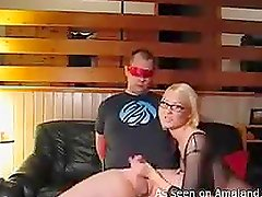Amateur blonde blows and rides her boyfriend's cock