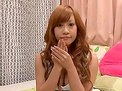 Pretty Japanese chick rides a dick then loaded with jizz