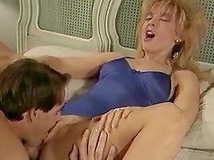 Nina Hartley has oral sex and gets her pussy drilled in various positions