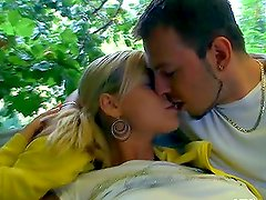 Horny babe gets fucked hard and cummed on the swing