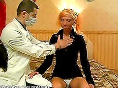 Two docs with hard cocks penetrate this sexy blond babe Sofi