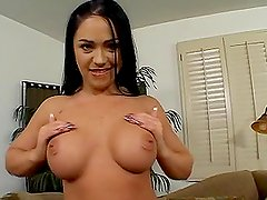 Flexible brunette Cherokee gets her pussy amazingly drilled by Mark Davis