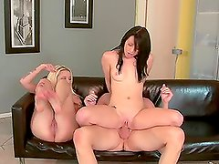 Megan Piper riding her stepfather's cock with her friend