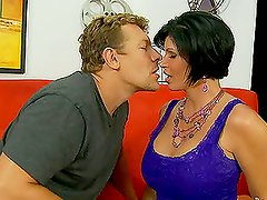 Busty brunette Shay Fox gets her pussy licked and fucked