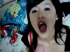 Japanese chick gets her tiny mouth and pussy fucked