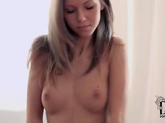 Nubile blonde goddess showing off her gorgeous body