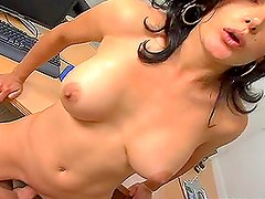 Hot brunette shows what she's got and how she wants to be fucked