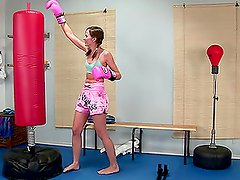 This video is about gym, lonely girl and big dildo