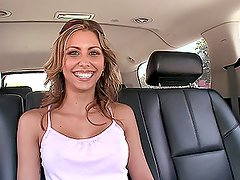 Cuban babe Carina blowjobs and gets hotly fucked in doggystyle