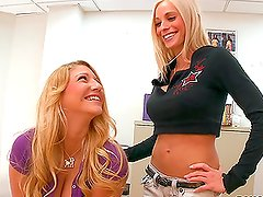 Two horny blondes get into an unbelievable trouble
