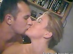 Sexy blonde having sex with her boyfriend for the webcam