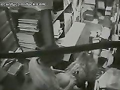 Hardcore sex in the print house office under the security camera