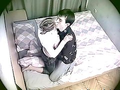 A guy fucks his cute girlfriend. She is not aware of the spy cam