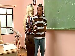 Naughty students fuck their geography teacher Leah Lush