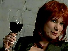 Redhead Nina Stein fucks with her husband in a jail