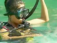 Amazing Asian Gets A Cock Underwater & On Land