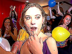A girl gets her pussy licked at the hen-party