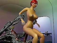 Wicked 3D monster captures a girl and fucks her mercilessly