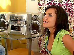Horny brunette Ruby Knox moans loudly during a hot fuck