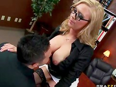 Awesome slut in glasses boned