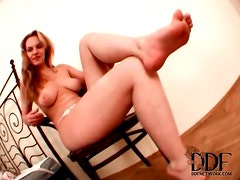 Audition video with a cute busty girl