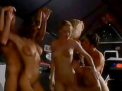 Three Horny Vixens Get Facial Cumshots in Group Sex