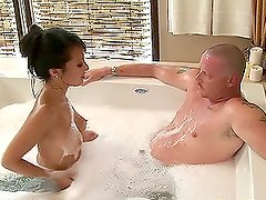 Naked Oily Massage And Cock Sucking With Asa Akira.