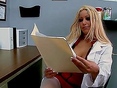 Eye Doctor in White Lingerie Gina Lynn Fucking Her Patient
