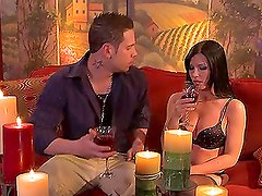 Rebeca Linares Has a Drink and Eats a Hard Dick