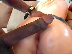 Blonde Girl Enjoying a Big Black Cock in Interracial Sex Vid