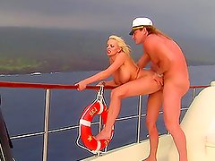 High Seas Action With The Busty Blonde Stormy Daniels