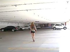 Ella Fingering Her Box In Car Park