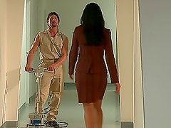 brunIndia Summer Gets A Taste Of A Horny Janitor's Cock