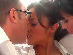 Beautiful Asian and Tory Lane Sharing Some Cock