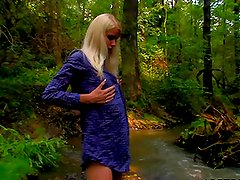 Busty Blonde Slut Danielka Fingering Like Mad Outdoors