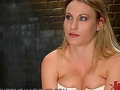 Sexy Blonde Hits Some High Notes With A Fucking Machine