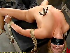 Horny Blonde Gets Tortured in the Dungeon