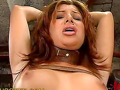 Kinky Brunette Loves Staying in the Dungeon