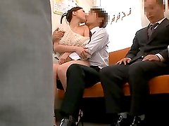Busty Beauty Ruri Gets Fucked On The Train In Public