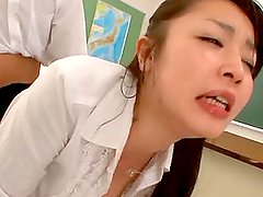 Asian Teacher Drinks Pee And Gets Really Off