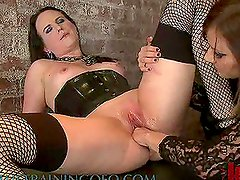 hot Femdom Scene With Horny Brunettes