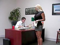 Blowjob and Anal Action in the Office with Blonde Babe Shyla Stylez