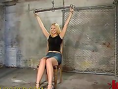 Blonde Slave Teased in the Basment