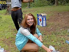 Wild Outdoor Orgy With Horny Teens