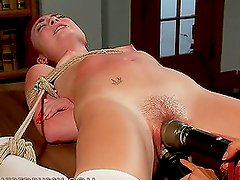 Dominant Big Breasted Brunette Fucking and Toying a Redhead Girl