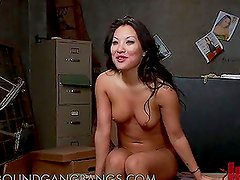 Asa Akira Gets Double Penetrated and Cum Bathed in Gangbang