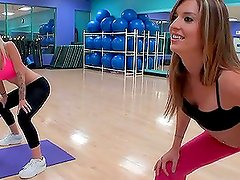 Blondie Boom and Lexxi Silver get Aerobic